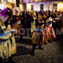 Vallejo, Vicente. Music, dance and lighted candles to celebrate the feast of Hanukkah in the Plaza de la Villa (Madrid) . 2013. Web. 18 Dec. 2014.