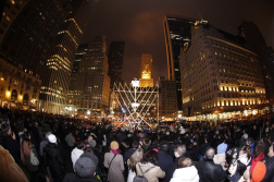 Lubavitch Youth Organization. Rabbi Shmuel Butman and Tamir Sapir lighted a menorah that weighs thousands of pounds and has real oil lamps, protected from wind by glass, at the edge of Central Park in New York on Dec. 8. 2012. Web. 18 Dec. 2014.