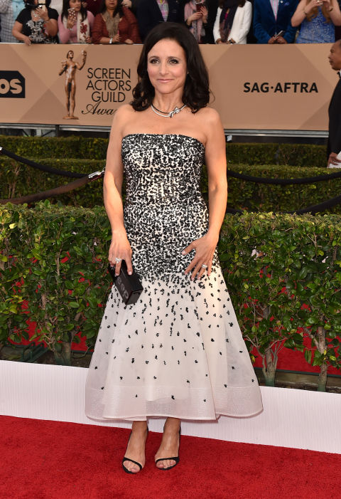AP. Julia-Louis Dreyfus in Monique Lhuillier. 2016. Web. 30 Jan. 2016. http://www.harpersbazaar.com/celebrity/red-carpet-dresses/g6789/the-best-of-the-2016-screen-actors-guild-awards-arrivals/?slide=10.