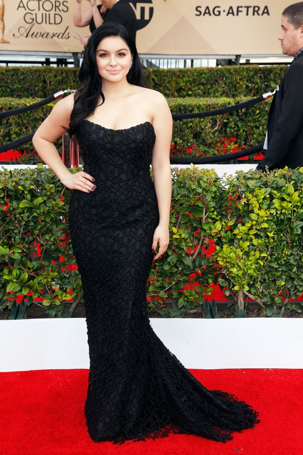 Vespa, Jeff. Ariel Winter in Romona Keveza. 2016. Web. 30 Jan. 2016. http://www.usmagazine.com/celebrity-style/pictures/sag-awards-2016-red-carpet-fashion-what-the-stars-wore-w162344/ariel-winter-w162993.