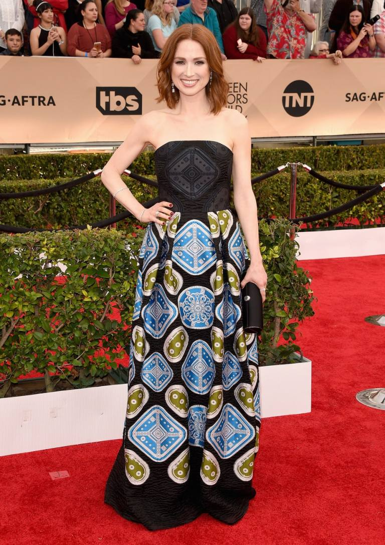 Merritt, Jason. Ellie Kemper in Peter Pilotto. 2016. Web. 30 Jan. 2016. http://www.usmagazine.com/celebrity-style/pictures/sag-awards-2016-red-carpet-fashion-what-the-stars-wore-w162344/ellie-kemper-w162985.