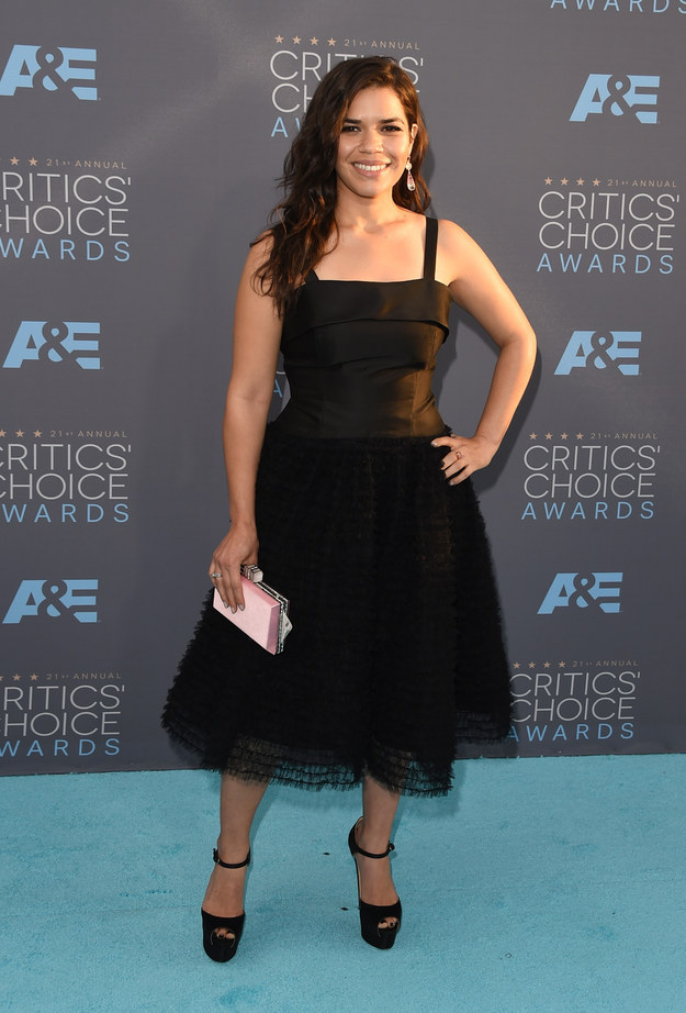 Merritt, Jason. America Ferrera. 2016. Web. 18 Jan. 2016. http://www.buzzfeed.com/whitneyjefferson/style-on-the-2016-critics-choice-awards-red-carpet#.moMOraJQ17.
