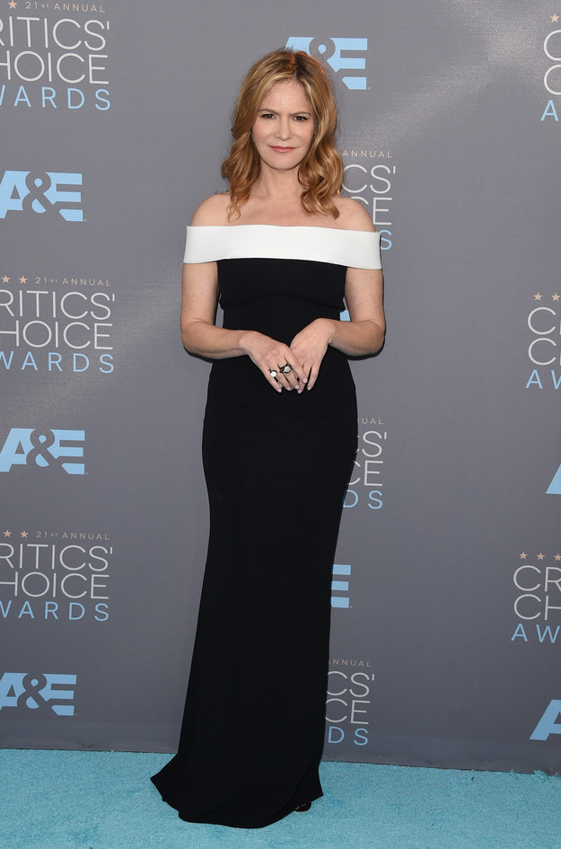 Merritt, Jason. Jennifer Jason Leigh. 2016. Web. 18 Jan. 2016. http://www.buzzfeed.com/whitneyjefferson/style-on-the-2016-critics-choice-awards-red-carpet#.moMOraJQ17.