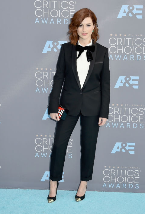 Merritt, Jason. Aya Cash in Sandro. 2016. Web. 18 Jan. 2016. http://www.harpersbazaar.com/celebrity/red-carpet-dresses/g6732/the-best-dressed-at-the-critics-choice-awards/?slide=9.