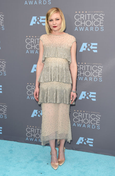 Merritt, Jason. Kirsten Dunst in Chanel Couture. 2016. Web. 18 Jan. 2016. http://www.harpersbazaar.com/celebrity/red-carpet-dresses/g6732/the-best-dressed-at-the-critics-choice-awards/?slide=21.