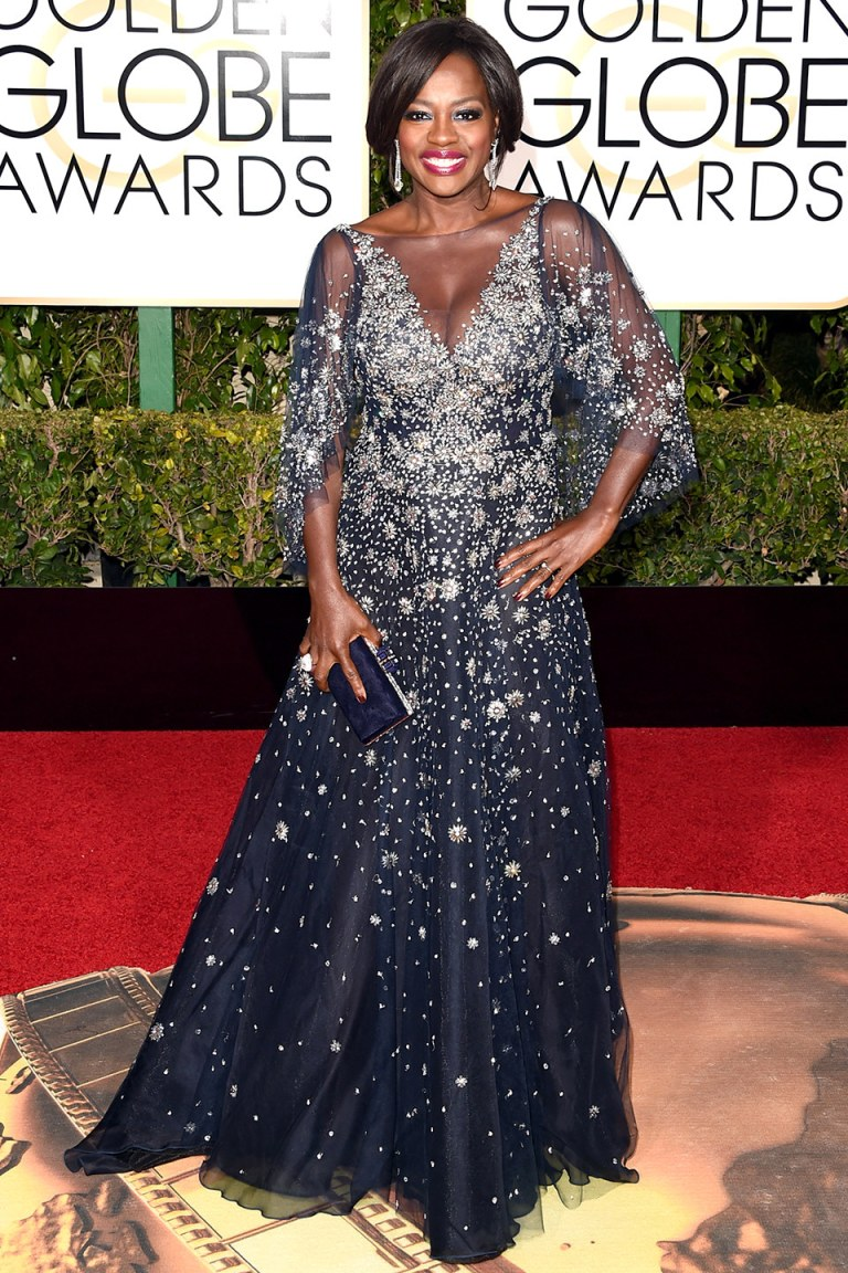 Viola Davis in Marchesa. 2016. Web. 11 Jan. 2016. http://www.vanityfair.com/style/photos/2016/01/golden-globes-2016-red-carpet-fashion.
