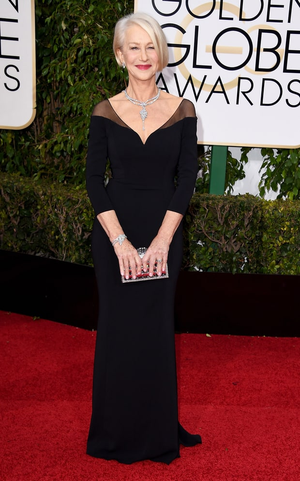 Granitz, Steve. Helen Mirren in Badgley Mischka. 2016. Web. 11 Jan. 2016. http://www.usmagazine.com/celebrity-style/pictures/golden-globes-2016-red-carpet-fashion-best-dressed-stars-w161272/helen-mirren-w161282.