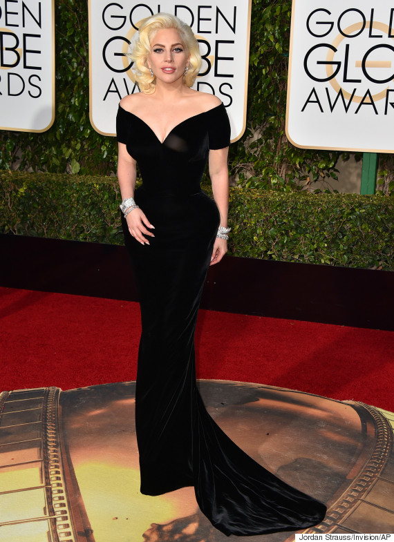Strauss, Jordan. Lady Gaga in Atelier Versace. 2016. Web. 11 Jan. 2016. http://www.huffingtonpost.co.uk/2016/01/10/golden-globes-lady-gaga_n_8951564.html.