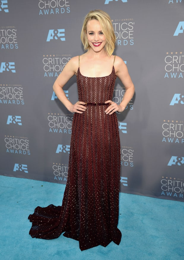 Mazur, Kevin. Rachel McAdams in Elie Saab Couture. 2016. Web. 18 Jan. 2016. http://www.usmagazine.com/celebrity-style/pictures/critics-choice-awards-2016-red-carpet-see-the-stars-w161883/rachel-mcadams-w161906.