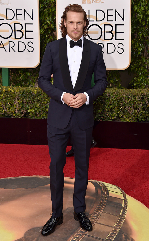 Strauss, Jordan. Sam Heughan in Dunhill. 2016. Web. 11 Jan. 2016. http://www.eonline.com/uk/photos/17923/best-dressed-men-at-the-2016-golden-globes/671577.