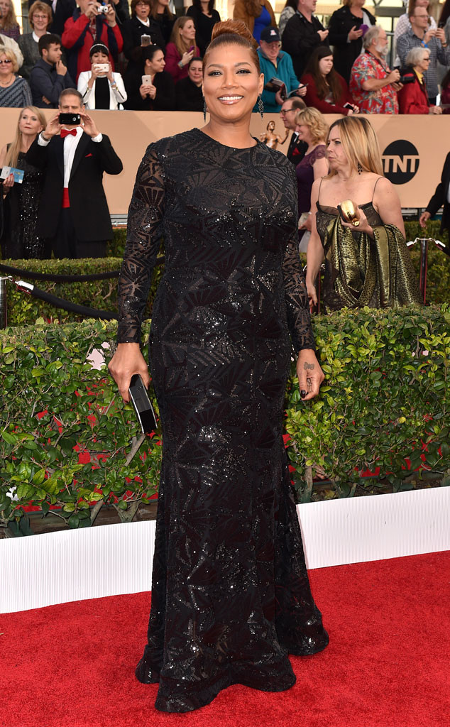 Strauss, Jordan. Queen Latifah in Michael Costello. 2016. Web. 30 Jan. 2016. http://www.eonline.com/photos/18096/best-dressed-at-2016-sag-awards/676574.