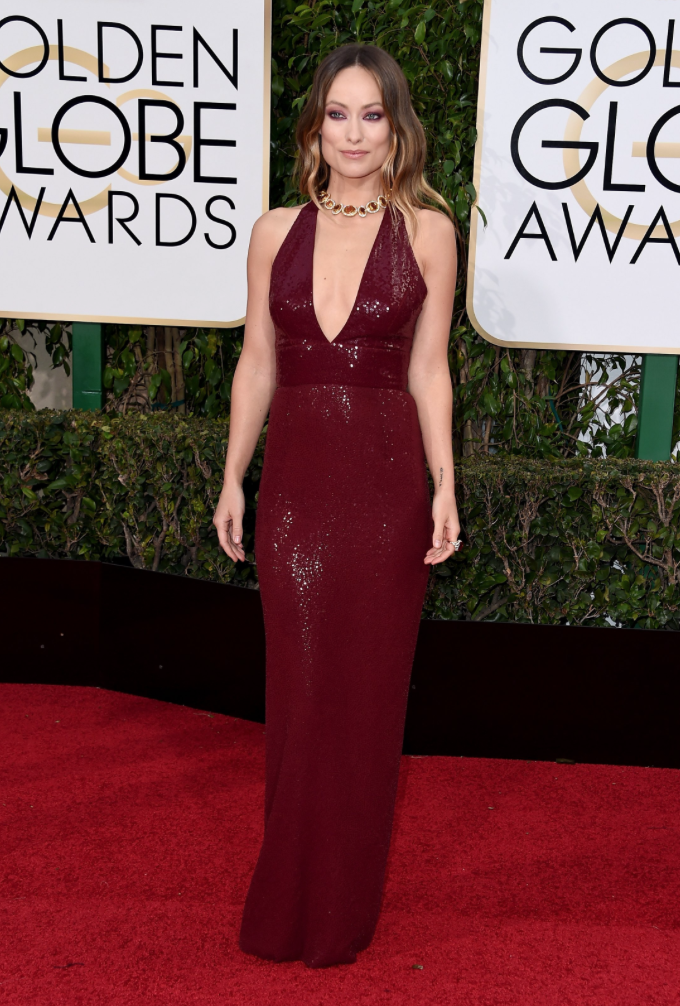 Olivia Wilde in Michael Kors. 2016. Web. 11 Jan. 2016. http://www.vogue.com/slideshow/13386028/golden-globes-2016-fashion-red-carpet/#14.