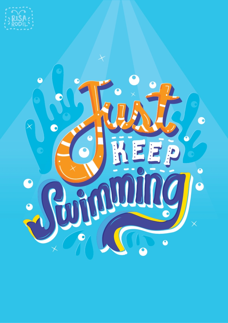 Rodil, Risa. Just Keep Swimming. 2014. Web. 5 Feb. 2016. https://www.behance.net/gallery/20830813/Pixar-Lettering-Series.