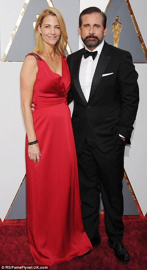 Steve and Nancy Carell. 2016. Web. 29 Feb. 2016. http://www.dailymail.co.uk/tvshowbiz/article-3453512/Jennifer-Lawrence-Brie-Larson-Cate-Blanchett-Charlize-Theron-plunge-glamorous-gowns-Academy-Awards-red-carpet.html.