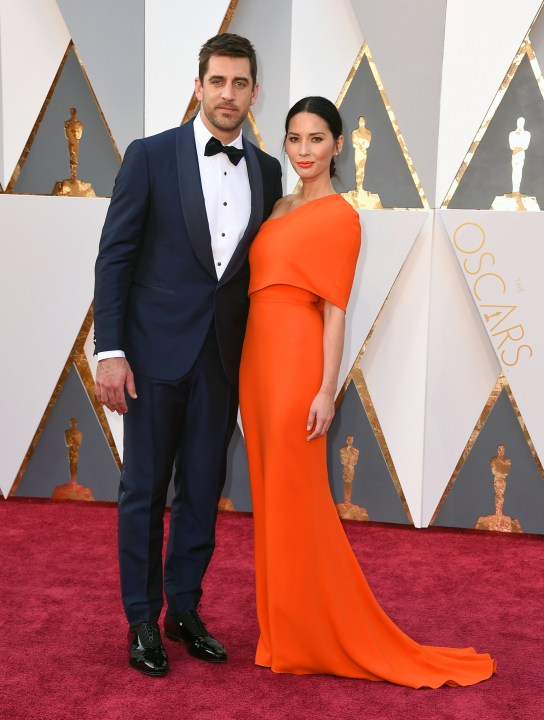 Merritt, Jason. Olivia Munn in Stella McCartney and Aaron Rodgers. 2016. Web. 28 Feb. 2016. http://www.twincities.com/2016/02/28/celebrities-at-the-oscars-dress-to-impress-on-the-red-carpet/.
