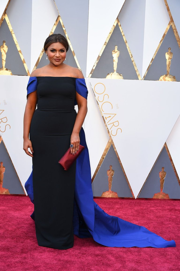 Mindy Kaling in Elizabeth Kenndey. 2016. Web. 28 Feb. 2016. http://www.hollywoodreporter.com/gallery/oscars-red-carpet-photos-2016-869834/5-mindy-kaling.