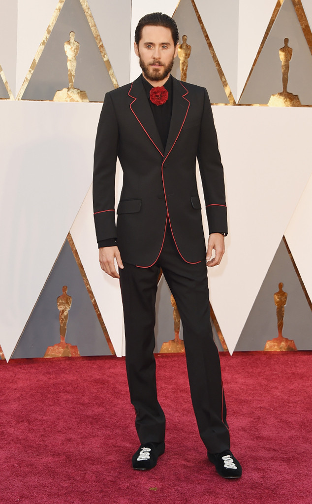 Merritt, Jason. Jared Leto in Gucci. 2016. Web. 28 Feb. 2016. http://www.eonline.com/photos/18308/oscars-2016-what-the-stars-wore/684078.