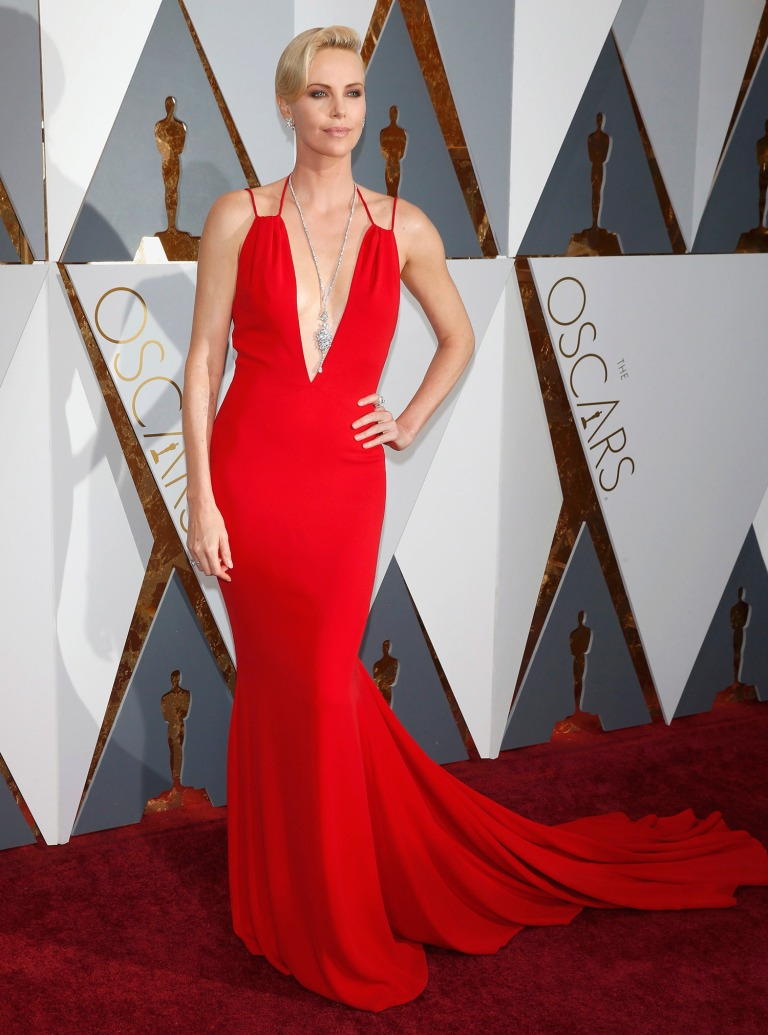 Reuters. Charlize Theron in Dior. Web. 29 Feb. 2016. http://www.thesun.co.uk/sol/homepage/showbiz/6963849/Oscars-2016-Is-this-the-raunchiest-Oscars-red-carpet-ever.html.