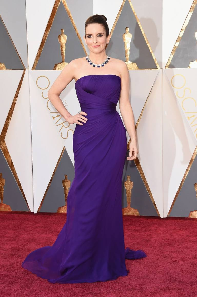 Merritt, Jason. Tina Fey in Atelier Versace. 2016. Web. 28 Feb. 2016. http://www.usmagazine.com/celebrity-style/pictures/oscars-2016-red-carpet-fashion-what-the-stars-wore-w165056/tina-fey-w165574.