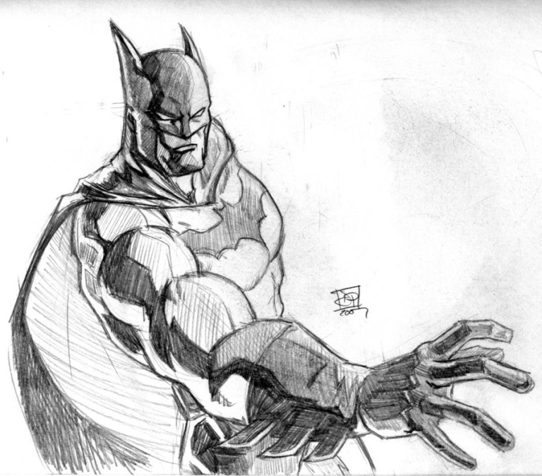 Pielich, David. Batman Pencil Sketch. 2007. Web. 25 Mar. 2016. http://www.deviantart.com/art/Batman-Pencil-Sketch-72315014.