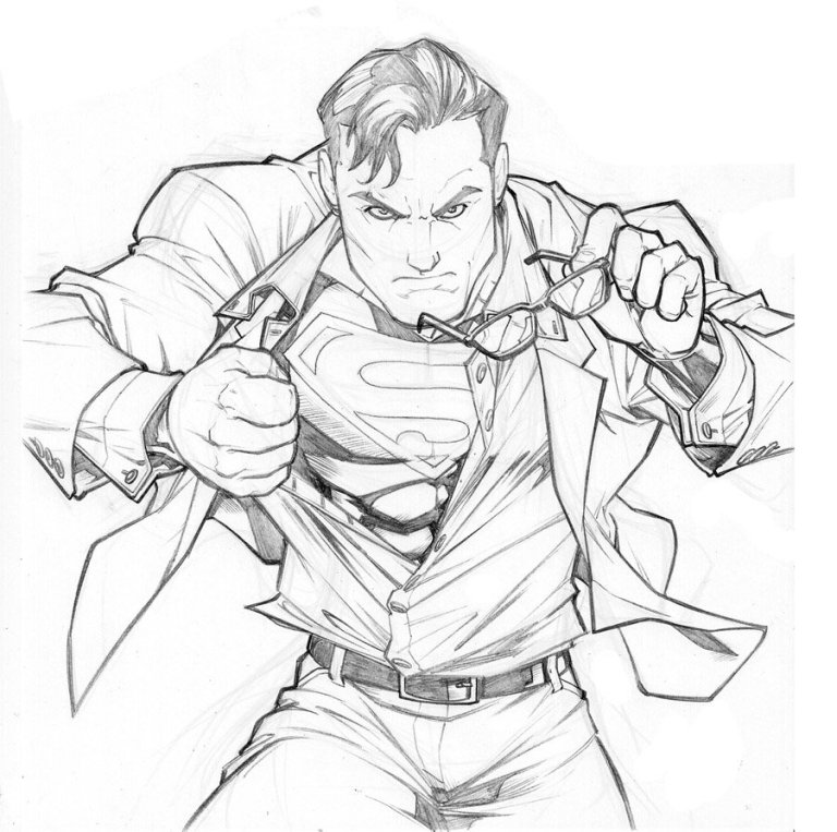 Gomez, Carlos. Old Superman Sketch. 2008. Web. 25 Mar. 2016. http://carlosgomezartist.deviantart.com/art/old-Superman-sketch-107786316.
