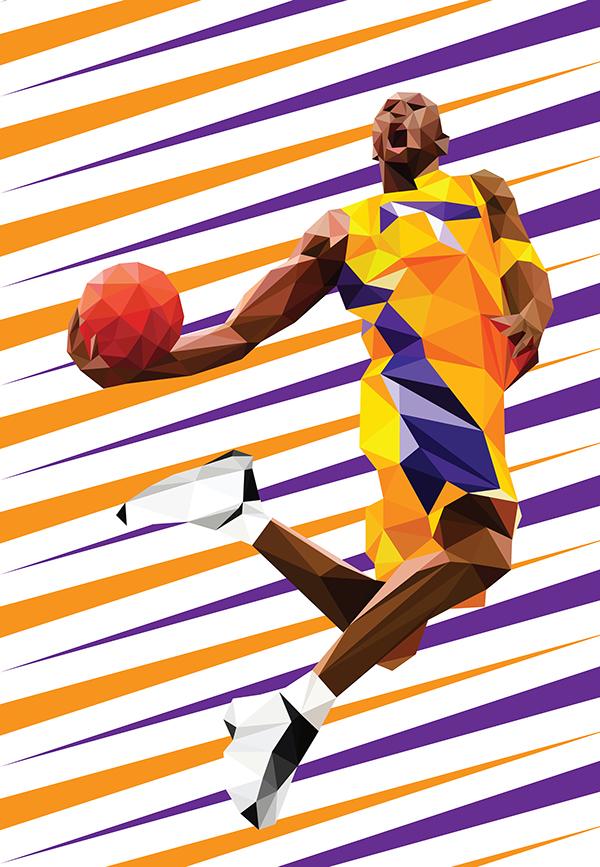 Bánrévi, Roland. Kobe Bryant. 2015. Web. 13 Apr. 2016. https://www.behance.net/gallery/23256987/Kobe-Bryant.