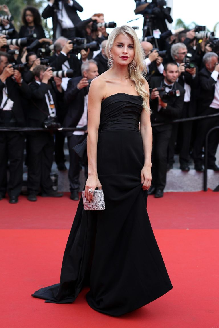 Getty. Caroline Daur in Urania Gazelli. 2016. Web. 23 May 2016. http://www.cosmopolitan.com/style-beauty/fashion/g5702/red-carpet-fashion-cannes-2016/?slide=83.