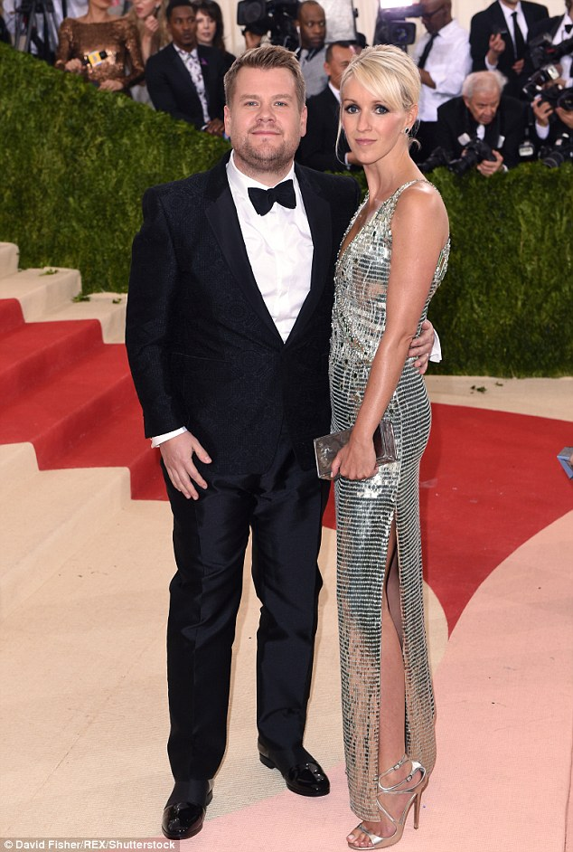 Getty. James Corden and Julia Carey in Burberry. Web. 4 May 2016. http://www.dailymail.co.uk/tvshowbiz/article-3570741/James-Corden-joins-metallic-clad-wife-Julia-Carey-date-night-Met-Gala.html.