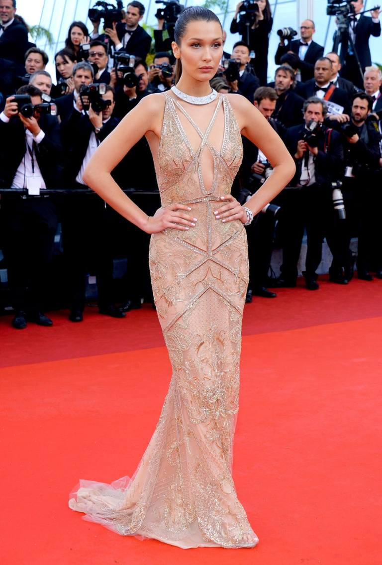 Charriau, Dominique. Bella Hadid in Cavalli. 2016. Web. 15 May 2016. http://www.usmagazine.com/celebrity-style/pictures/cannes-film-festival-2016-red-carpet-fashion-what-the-stars-wore-w206058/bella-hadid-w206068.