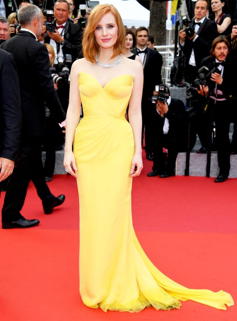 Venturelli/WireImage. Jessica Chastain in Giorgio Armani Prive. 2016. Web. 15 May 2016. http://www.usmagazine.com/celebrity-style/pictures/cannes-film-festival-2016-red-carpet-fashion-what-the-stars-wore-w206058/jessica-chastain-w206066.