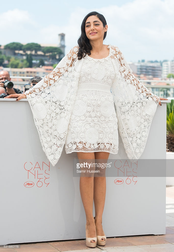 Hussein, Samir. Golshifteh Farahani in Chloé. 2016. Web. 23 May 2016. http://www.gettyimages.com/photos/golshifteh-farahani-cannes-may-2016?excludenudity=true&family=editorial&phrase=golshifteh%20farahani%20cannes%20may%202016&sort=best.