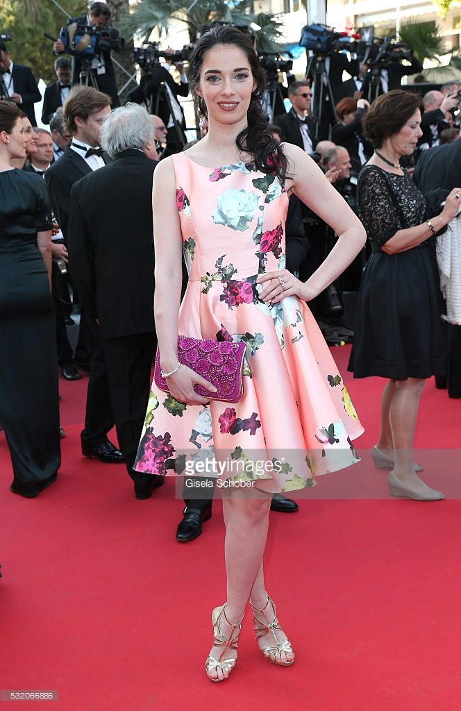 Schober, Gisela. Sarah Barzyk in Christophe Guillarme. 2016. Web. 23 May 2016. http://www.gettyimages.com/detail/news-photo/sarah-barzyk-attends-the-julieta-premiere-during-the-69th-news-photo/532066886.