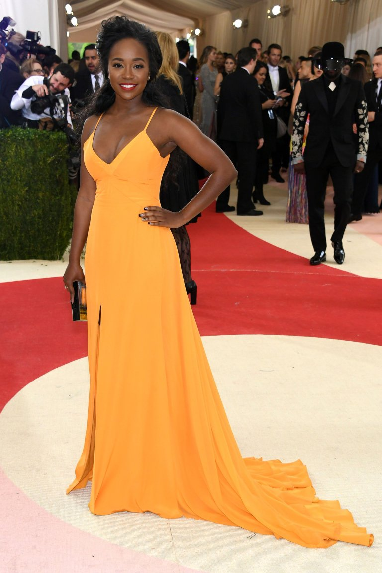 Getty. Aja Naomi King in Prabal Gurung. 2016. Web. 4 May 2016. http://www.vogue.com/slideshow/13429562/met-gala-2016-red-carpet-celebrity-fashion-live/#113.