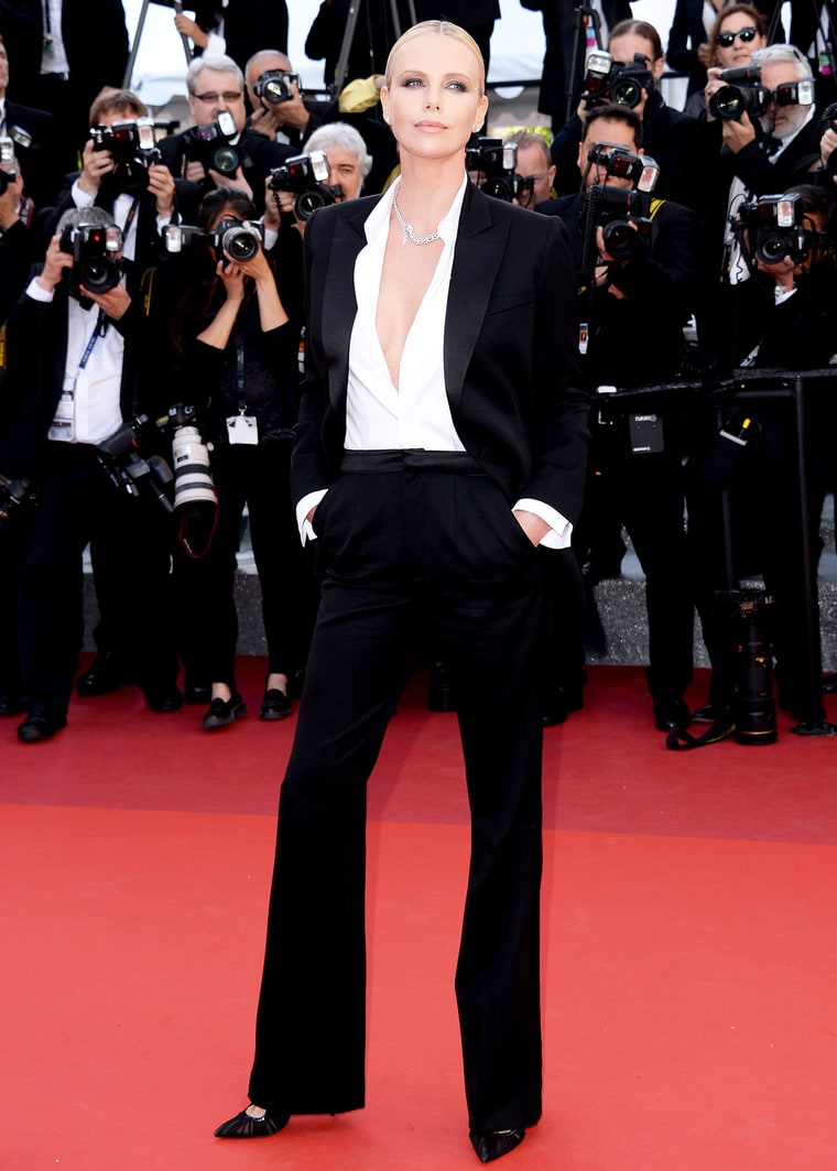 Harvey, Anthony. Charlize Theron in Dior. 2016. Web. 22 May 2016. http://www.usmagazine.com/celebrity-style/news/charlize-theron-stuns-in-tuxedo-at-cannes-2016-red-carpet-pics-w207340.