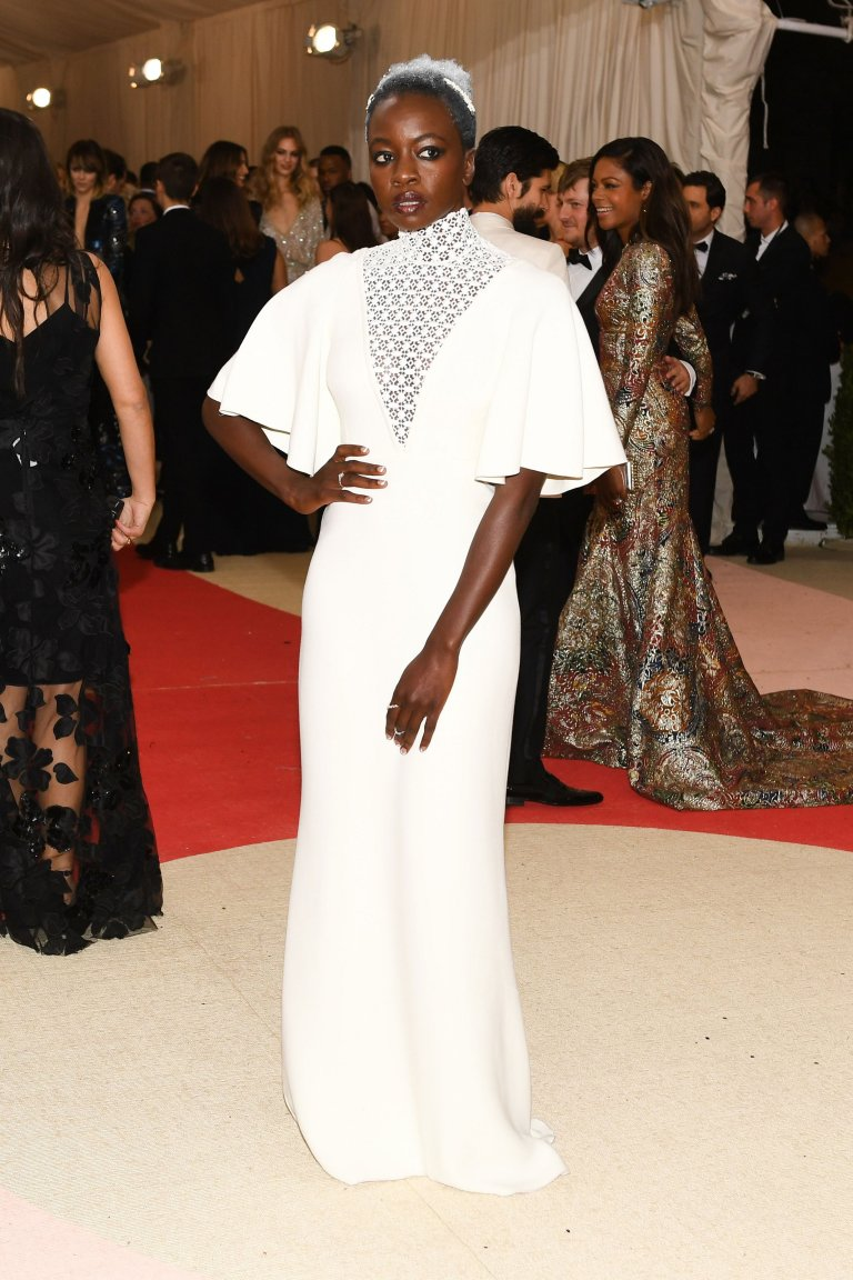BFA.com. Danai Gurira in Giambattista Valli. Web. 4 May 2016. http://www.vogue.com/slideshow/13429562/met-gala-2016-red-carpet-celebrity-fashion-live/#155.