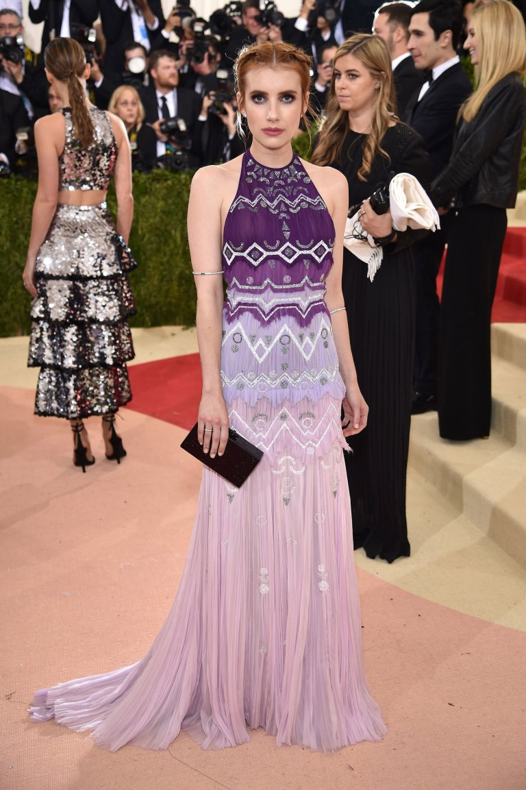 Getty. Emma Roberts in Tory Burch. 2016. Web. 4 May 2016. http://www.vogue.com/slideshow/13429562/met-gala-2016-red-carpet-celebrity-fashion-live/#98.