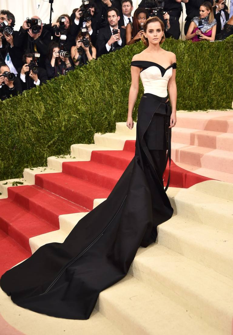 Kambouris, Dimitrios. Emma Watson in Calvin Klein. 2016. Web. 4 May 2016. http://www.usmagazine.com/celebrity-style/pictures/met-gala-2016-red-carpet-fashion-what-the-stars-wore-w204308/emma-watson-w204923.