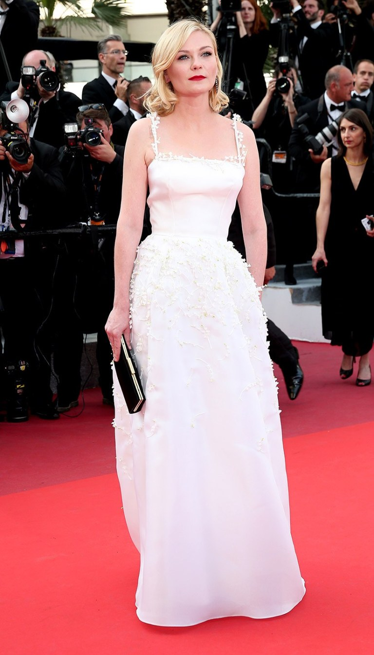 Schober, Gisela. Kirsten Dunst in Dior. 2016. Web. 16 May 2016. http://www.vanityfair.com/style/photos/2016/05/cannes-red-carpet-best-dressed-2016#2.