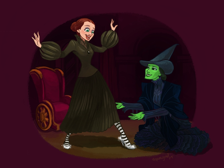 Claridades, James. The Wicked Witch of the East. 2014. Web. 25 Aug. 2016. http://squeegool.tumblr.com/post/85247011859/ive-done-what-long-ago-i-should-and-finally-from.