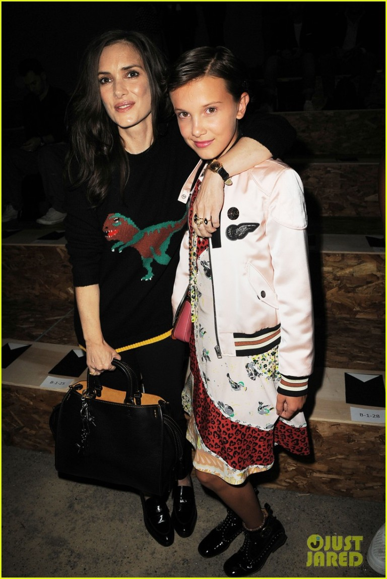 Getty. Milly Bobby Brown & Winona Ryder in Coach. 2016. Web. 17 Sept. 2016. http://www.justjared.com/photo-gallery/3758771/coach-new-york-fashion-week-show-17/.