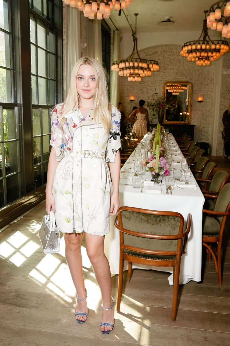 Dakota Fanning in Alexander McQueen. 2016. Web. 14 Sept. 2016. http://celebmafia.com/dakota-fanning-w-magazine-girl-luncheon-new-york-972016-597378/.