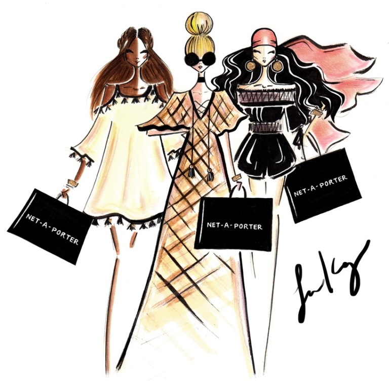 Kay, Laura. Net - A - Porter x Rachel Zoe. 2016. Web. 10 Sept. 2016. http://www.diarysketches.com/blog/net-a-porter-x-rachel-zoe-fashion-illustration-totes.