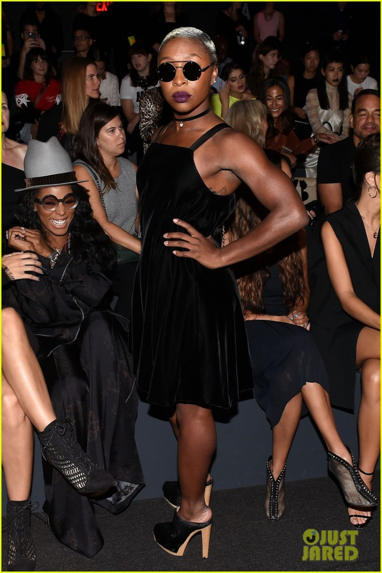 Getty. Cynthia Erivo in Vera Wang. 2016. Web. 17 Sept. 2016. http://www.justjared.com/photo-gallery/3758991/maria-sharapova-emily-ratajkowski-vera-wang-nyfw-show-28/.