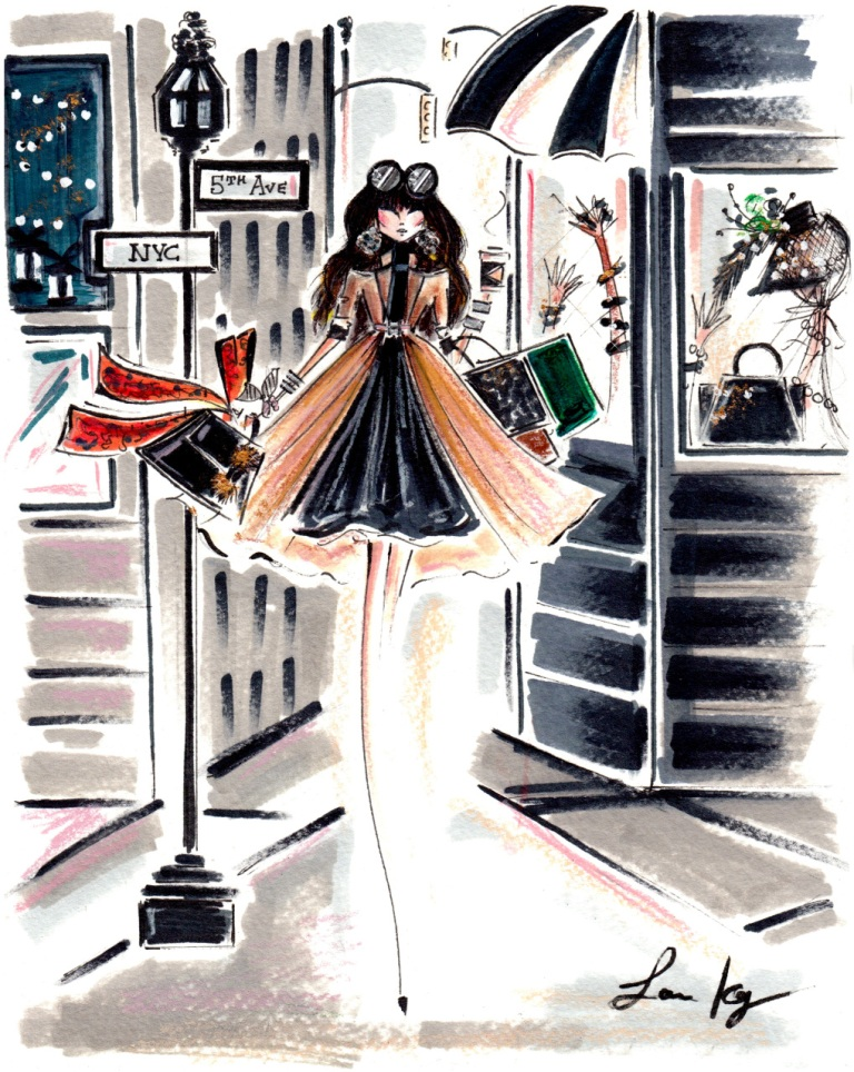 Kay, Laura. Fifth Avenue. 2016. Web. 10 Sept. 2016. http://www.diarysketches.com/art-prints.html.