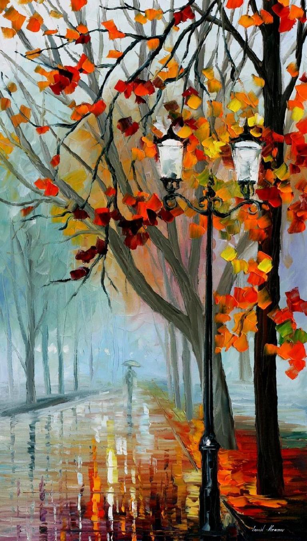 Afremov, Leonid. Autumn Fog 2. Web. 1 Oct. 2016. https://afremov.com/AUTUMN-FOG-2-PALETTE-KNIFE-Oil-Painting-On-Canvas-By-Leonid-Afremov-Size-36-x20.html.